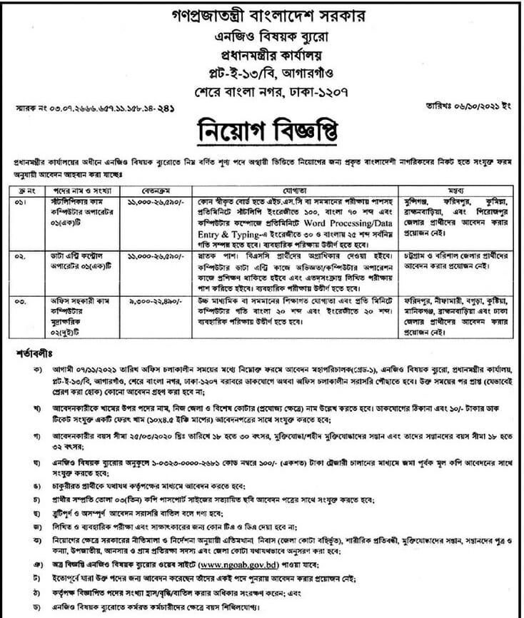 NGO Buro Job Circular